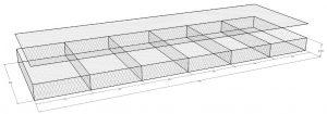 เกเบี้ยน แมทเทรส 6X8 2x6x0.3